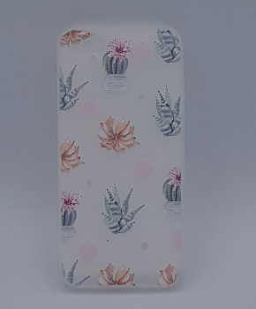 iPhone 5, 5s, SE - hoes, cover - TPU - white cactus