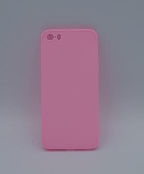 iPhone 5, 5s, SE hoesje - effen pink - Roze