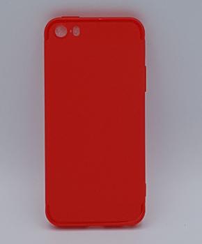 iPhone 5, 5s, SE hoesje  - effen rood