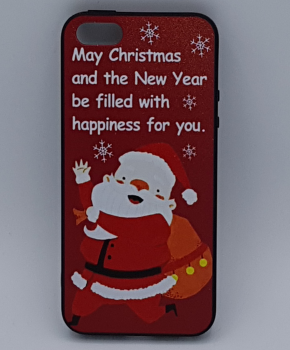 iPhone 5, 5s, SE hoesje  - kerst - kerstman happiness