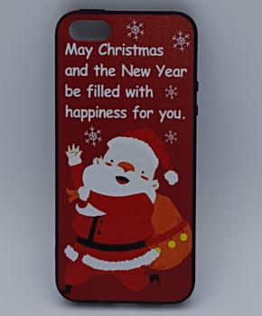 iPhone 5, 5s, SE hoesje  - kerst - kerstman happiness