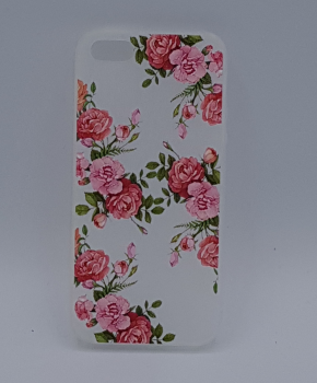 iPhone 5, 5s, SE hoesje  - Roze rozen in bloei