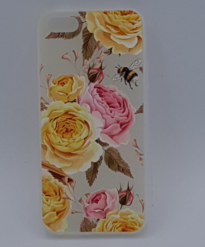 iPhone 5, 5s, SE hoesje - yellow and pink roses