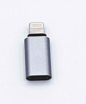 Type C naar 8 Pins male Adapter - Zilver