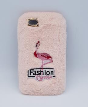 zacht pluizig - hoesje  voor iPhone 6  - flamingo pink