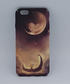 iPhone 6 / 6S hoesje  - View at the moon