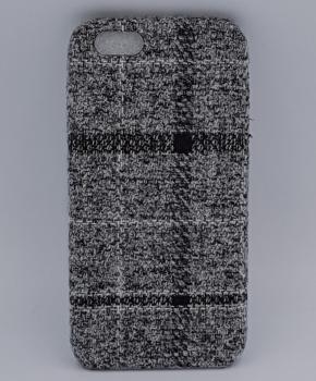 iPhone 6 / 6S hoesje - met grijze stof bekleed