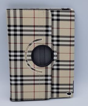 Voor Ipad Air 2 case / hoes - Geruit - bruin