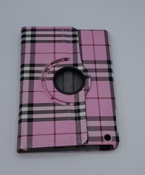Voor iPad mini 1/2/3 case / hoes  - Geruit-  roze