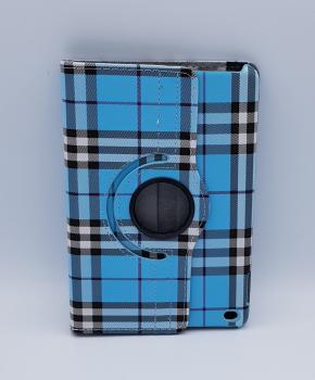 Voor iPad mini 4 case / hoes  - Geruit - blauw