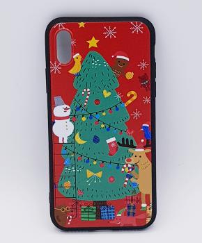iPhone X  hoesje  - kerst - kerstboom tafereel