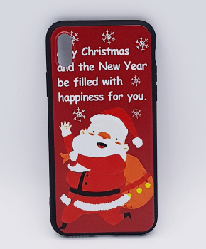 iPhone X hoesje - kerst - kerstman happiness