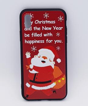 iPhone X hoesje - kerst - kerstman happiness