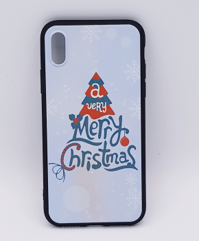 iPhone X hoesje  - kerst - a very Merry Christmas - wit