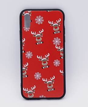 iPhone X  hoesje  - kerst - Rudolf rednose - rood