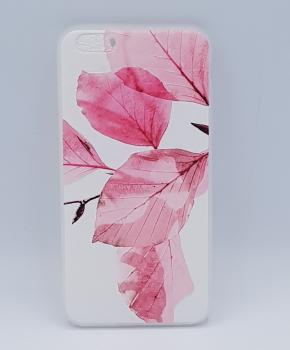 Voor IPhone 6 Plus hoesje - roze bladeren