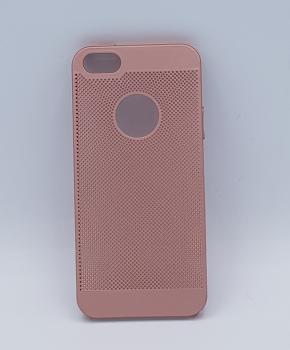 iPhone 6 hoesje  - effen roze metaal gaaslook