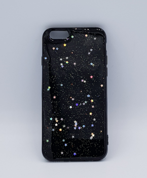 Voor IPhone 5 / 5S hoesje  - glitters on black