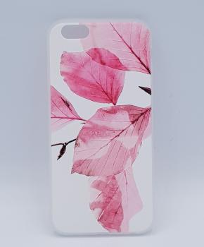Voor IPhone 6 / 6S hoesje  - roze bladeren