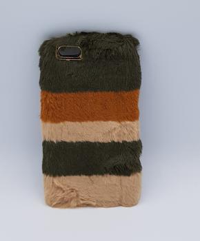 zacht pluizig - Gemengde Kleuren - bruin - hoesje  voor iPhone 6 plus