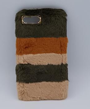 zacht pluizig - 3 Kleuren - hoesje voor iPhone 7 plus