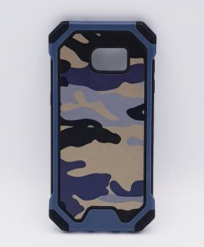 Voor Samsung S7 Edge hoesje - Camouflage blauw