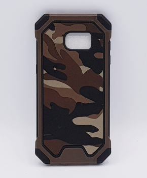 Voor Samsung S7 Edge hoesje - Camouflage bruin