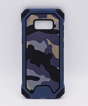 Voor Samsung S8 hoesje - Camouflage blauw