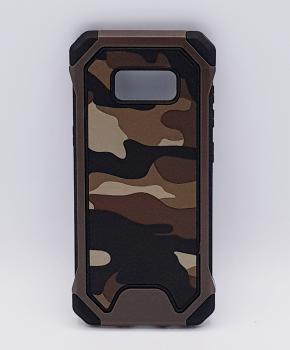 Voor Samsung S8 Plus hoesje - Camouflage bruin