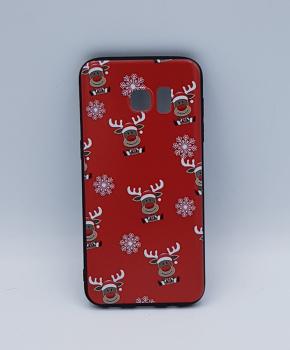 Samsung S7 Edge hoesje  - kerst - Rudolf rednose - rood