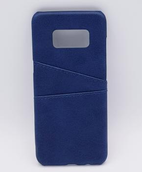 Voor Samsung S8 - kunstlederen back cover / wallet - blauw