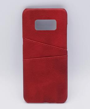 Voor Samsung S8 Plus - kunstlederen back cover / wallet rood