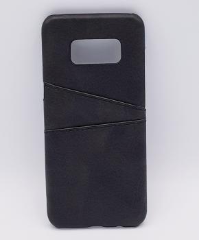 Voor Samsung S8 Plus - kunstlederen back cover / wallet zwart