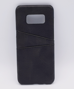 Voor Samsung S8 - kunstlederen back cover / wallet zwart