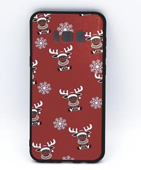 Samsung S8 Plus hoesje  - kerst - Rudolf rednose - rood