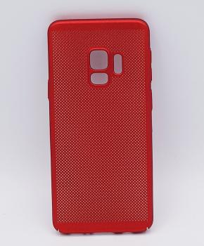 Voor Samsung Galaxy S9 - hoesje - metaal gaas look - Rood