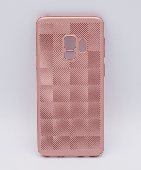 Voor Samsung Galaxy S9 - hoesje - metaal gaas look - roze