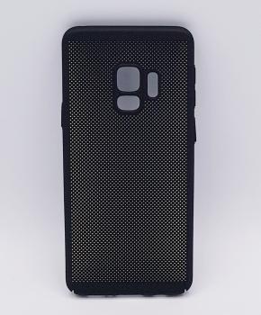 Voor Samsung Galaxy S9 - hoesje - metaal gaas look - zwart