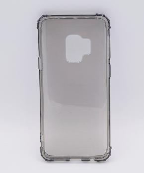 Voor Samsung S9  - transparant Hoesje - grijs