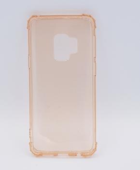 Voor Samsung S9  - transparant Hoesje - oranje