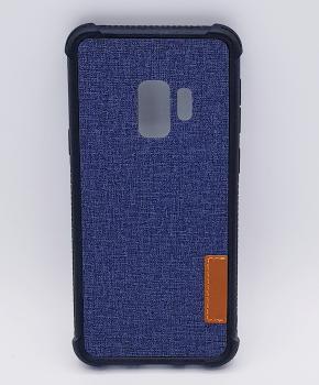 Voor Samsung Galaxy S9 - hoesje - Jeanslook - blauw