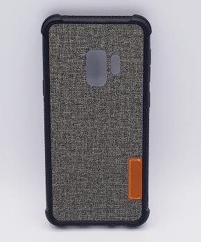 Voor Samsung Galaxy S9 - hoesje - Jeanslook - kaki