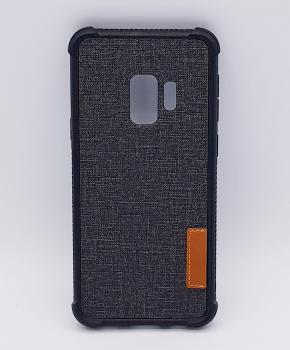 Voor Samsung Galaxy S9 - hoesje - Jeanslook - zwart