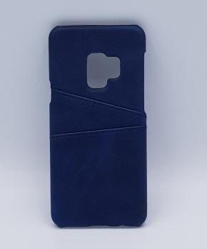 Voor Samsung S9 - kunstlederen back cover / wallet blauw