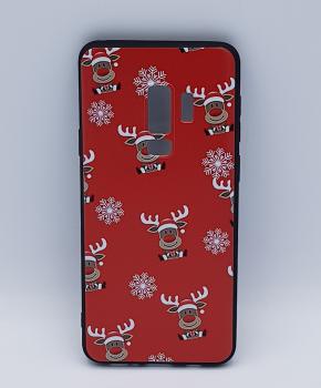 Samsung S9 Plus hoesje - kerst - Rudolf rednose - rood