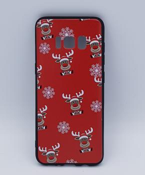 Samsung S8 hoesje  - kerst - Rudolf rednose - rood