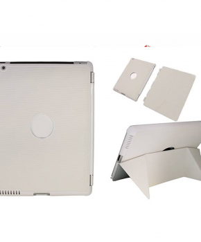 Voor iPad 2/3 smart case / hoes  - met magnetische opvouwbare standaard - Wit