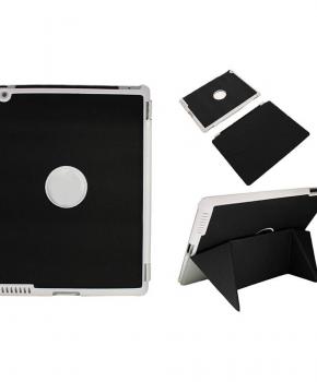 Voor iPad 2/3 smart case / hoes  - met magnetische opvouwbare standaard - zwart