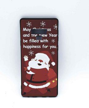 Voor Samsung Note 9 hoesje  - kerst - kerstman happiness