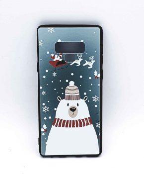 Samsung Note 9  hoesje  - kerst - ijsbeer met muts